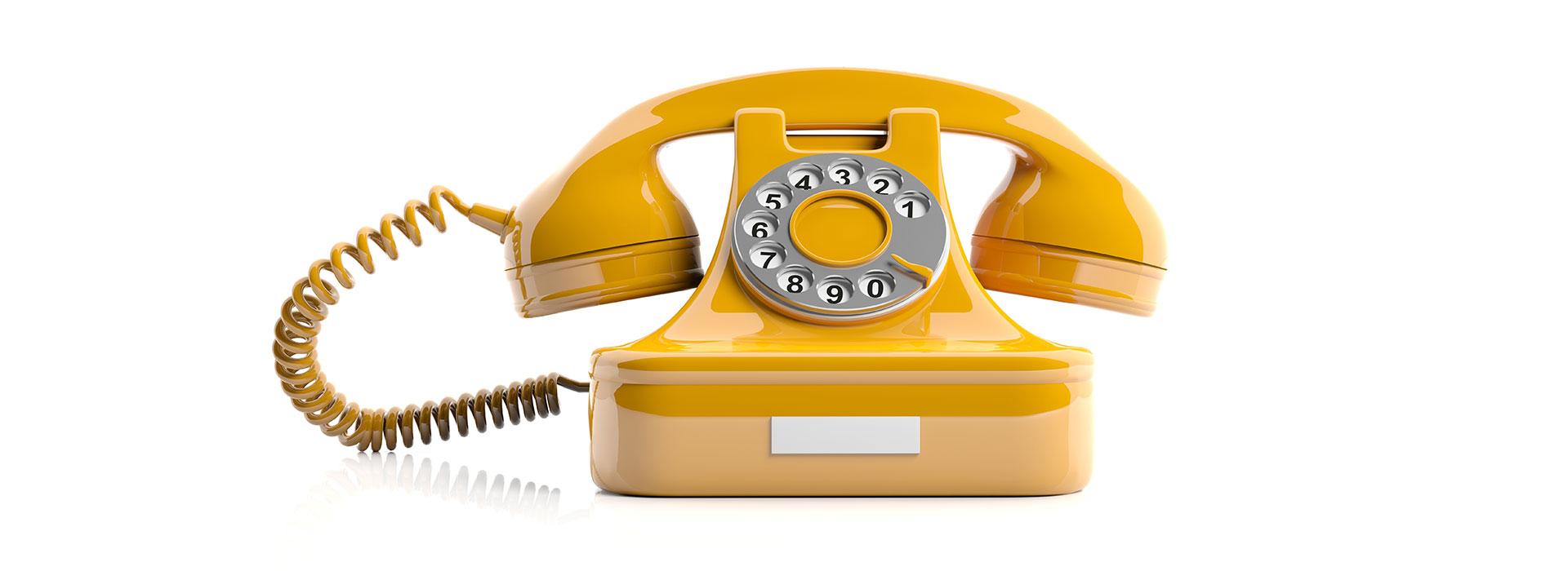 Ein gelbes Telefon