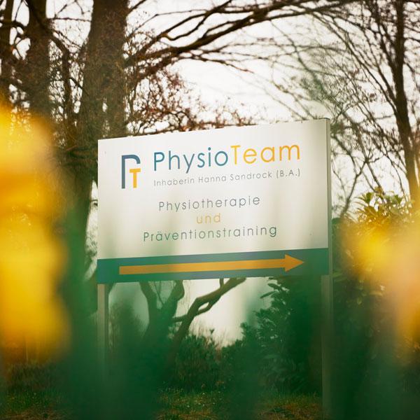 Schild der Physioteam-HVL Physiopraxis